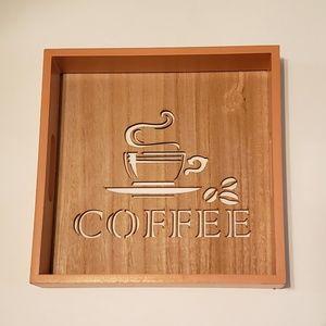 Coffee kitchen decor tray wall hanging